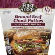 First Street Patties, Ground Beef, Chuck