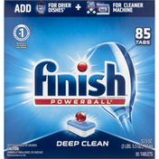 Finish Automatic Dishwasher Detergent, Powerball, Deep Clean, Tablets