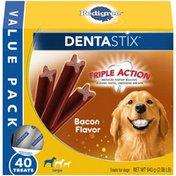 Pedigree Adult Large Dog Dental Care Treats, Bacon Flavor