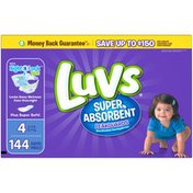 Luvs Super Absorbent Leakguards Newborn Diapers Size 4 144 count Diapers