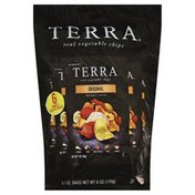 Terra Vegetable Chips, Real, Original, Sea Salt, Single Serve Bags
