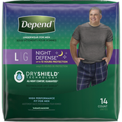 Depend Incontinence Underwear for Men, Overnight