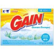 Gain with FreshLock Ocean Escape Powder Detergent