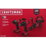 Craftsman Combo Kit, 4-Tool