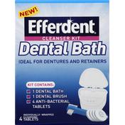 Efferdent Cleanser Kit, Dental Bath