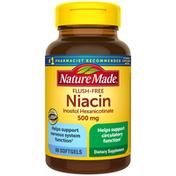 Nature Made Flush-Free Niacin Inositol Hexanicotinate 500 mg Softgels