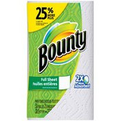 Bounty Paper Towels, White, Large Roll = 25% More Sheets  Paper Towels