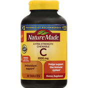 Nature Made Vitamin C, 1000 mg, Extra Strength, Chewable Tablets, Orange