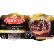 Bertolli Triple Chocolate Strata Cake Dessert