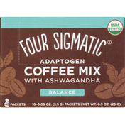 Four Sigmatic Coffee Mix,  Balance, 10 Pack