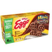Eggo Minis Thick & Fluffy,Frozen Waffles, Chocolate Delight