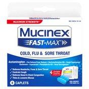 Mucinex® Fast-Max Cold, Flu, & Sore Throat Caplets