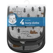 Gerber Burp Cloths, Terry Lined