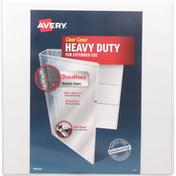 Avery Binder, Clear Cover, Heavy Duty, 2 Inch