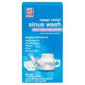 Rite Aid Neti Pot Nasal Relief Sinus Wash Kit