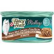 Purely Fancy Feast White Meat Chicken & Tuna Recipe Medleys Canned Cat Food