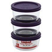 Pyrex Glass Storage, 1 Cup, 6 Piece Value-Plus Pack