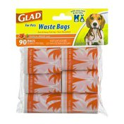 Glad For Pets Waste Bags Tropical Breeze - 90 CT