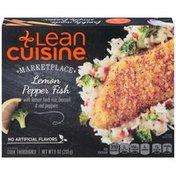 LEAN CUISINE Lemon pepper fish with lemon herb rice, broccoli, and red peppers Lemon Pepper Fish