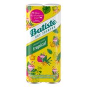 Batiste Dry Shampoo, Tropical Fragrance, / 200 Ml Twin Pack
