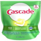 Cascade ActionPacs Dishwasher Detergent, Lemon Scent