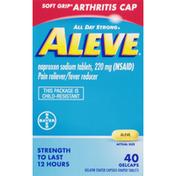 Aleve Pain Reliever/Fever Reducer, Gelcaps, Soft Grip Arthritis Cap