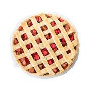 Half Strawberry Rhubarb Pie