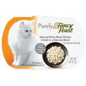 Fancy Feast Grain Free Purely Natural White Meat Chicken Entree in Delicate Broth Wet Cat Food