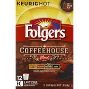 Folgers Coffee, Medium-Dark Roast, Coffeehouse Blend, K-Cup Pods