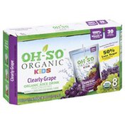 Oh So Juice, Clearly Grape, Organic, Kids, 8 Pack, Box