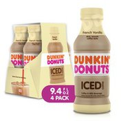 Dunkin' Donuts French Vanilla Iced Coffee Bottles