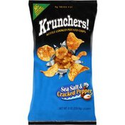 Krunchers! Sea Salt & Cracked Pepper Kettle Cooked Potato Chips