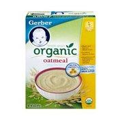 Gerber Cereal For Baby, Organic, Single Grain Oatmeal