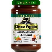 Once Again Amore Spread with Cocoa & Milk, Organic, Almond
