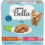Purina Natural Small Breed Pate Wet Dog Food Variety Pack, Grilled Chicken Flavor & With Beef in Juices