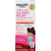Equate Allergy Relief, Children's, Cherry Flavored