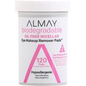 Almay Eye Makeup Remover Pads, Oil Free Micellar