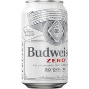 Budweiser Zero Full-Flavored Non Alcoholic Beer Can