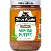 Once Again Almond Butter, Creamy, Unsweetened & Lightly Toasted, Natural