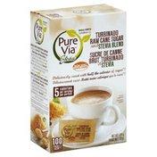 Pure Via Sweetener, Turbinado Raw Cane Sugar and Stevia Blend
