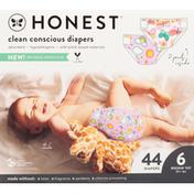 Honest Tea Diapers, Sky's the Limit/Wingin It, Rockin' Tot, Size 6 (35+ lbs)