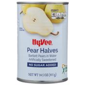 Hy-Vee Sweetened Bartlett Pear Halves In Water