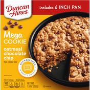 Duncan Hines Pan Cookie Mix, Oatmeal Chocolate Chip, Mega Cookie
