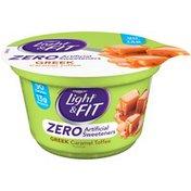 Dannon Greek Blended Caramel Toffee Flavor Nonfat Yogurt
