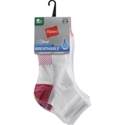 Hanes Socks, Breathable, Ankle, 5-9, Women's