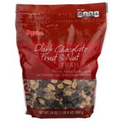 Hy-Vee Dark Chocolate Fruit & Nut Peanuts, Raisins, Sunflower Kernels, Dark Chocolate Chips, Dried Cranberries & Almonds Trail Mix