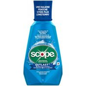 Scope Outlast Scope Outlast Long Lasting Peppermint Mouthwash, 1 L Oral Rinse