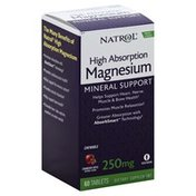 Natrol Magnesium, High Absorption, 250 mg, Chewable Tablets, Cranberry Apple