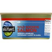 Wild Planet Wild Alaska Sockeye Salmon, Boneless & Skinless