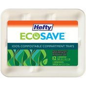Hefty 100% Compostable Compartment Trays